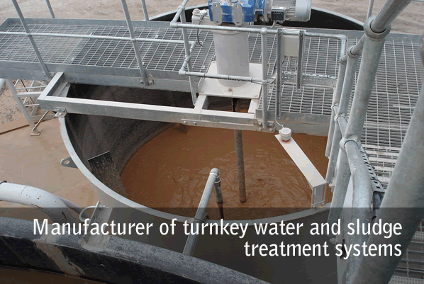 Manufacturer of turnkey water and sludge treatment systems