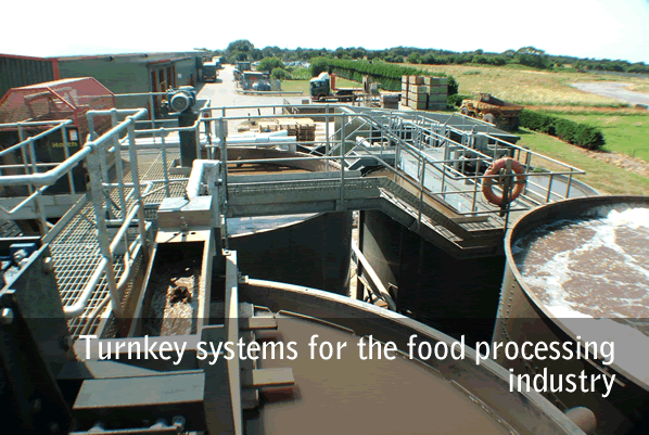 Turnkey systems for the food processing industry