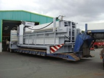 The new press leaves the Haith manufacturing base for delivery to site.